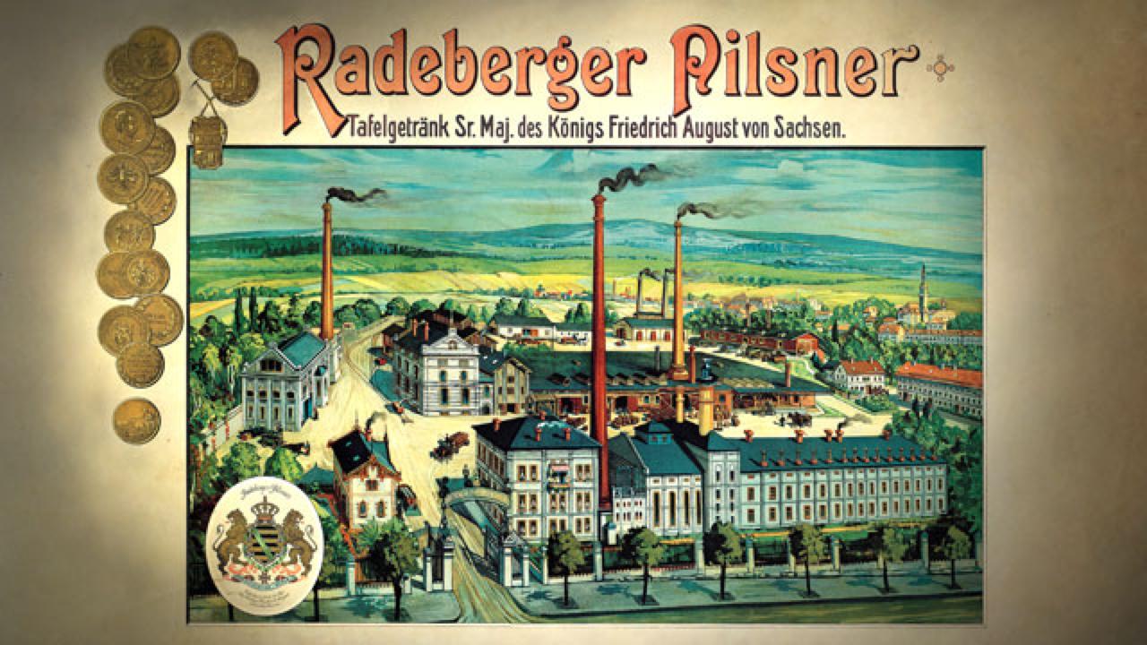 Radeberger Pilsner historisches Plakat